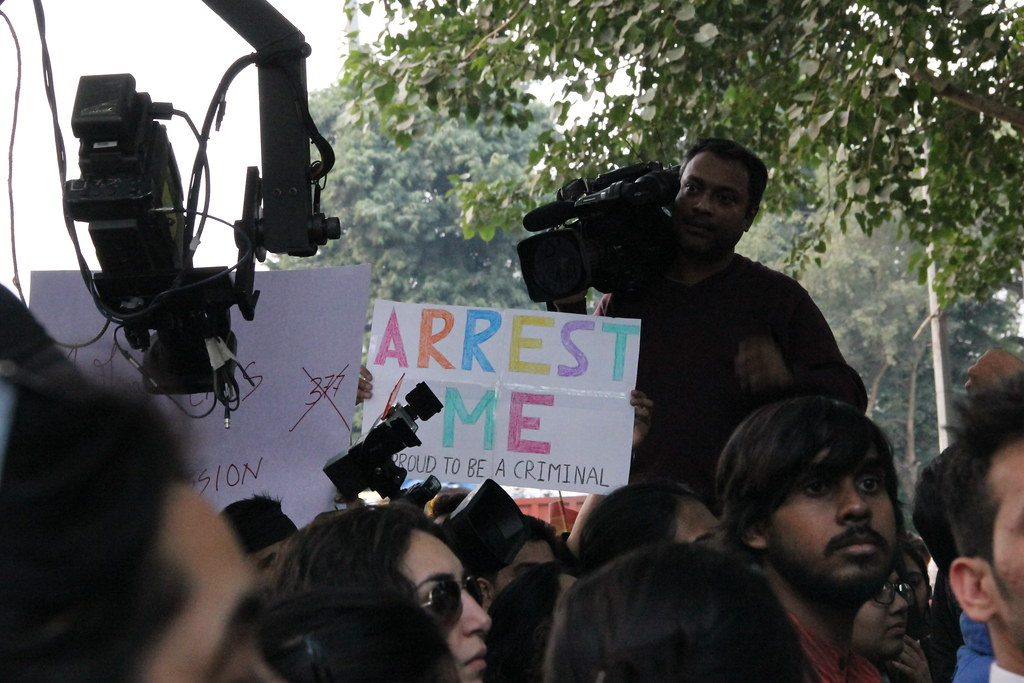 Demonstration gegen Artikel 377 in Delhi (15.12.13)