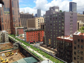 The Highline aerial view New York park Chelsea | by david_shankbone