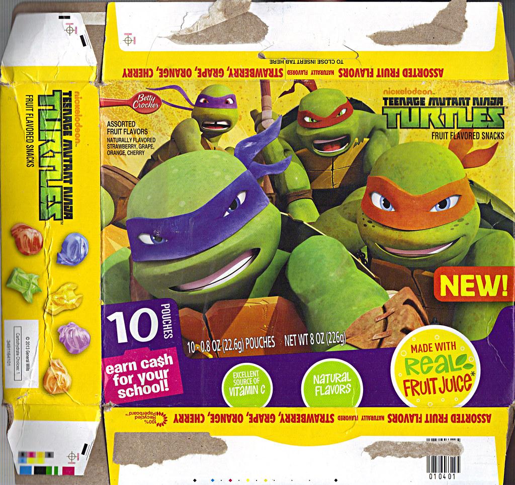 """BETTY CROCKER :: """"Nickelodeon TEENAGE MUTANT NINJA TURTLES"""" Fruit Flavored Snacks ii (( 2013 )) by tOkKa"""