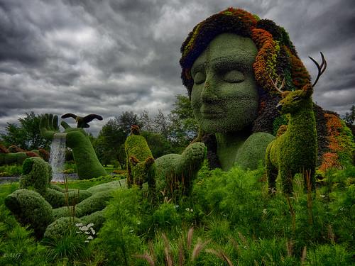 flowers sky sculpture art clouds fleurs mood montréal zoom montreal atmosphere wideangle ciel nuages horticulture botanicalgarden landart plantes jardinbotanique grandangle atmosphère mosaïcultures lumixgvario714f40 olympusem5