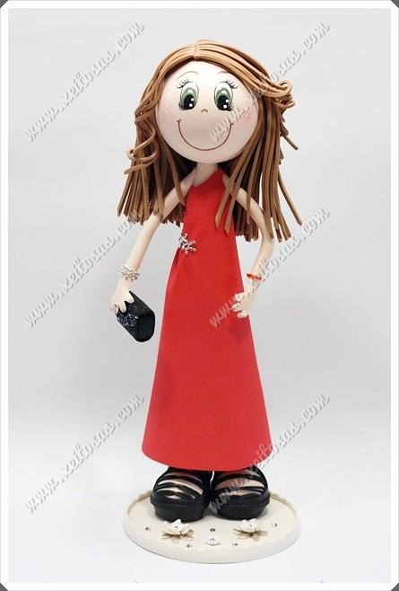 Fofucha Con Vestido Rojo Para Boda Sandalias Y Bolso Flickr