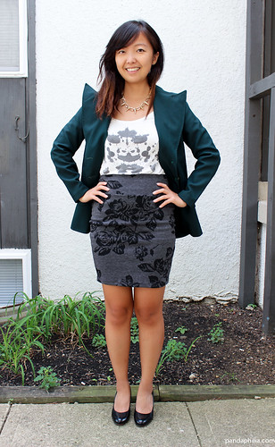how to style a green blazer for work | by pandaphilia