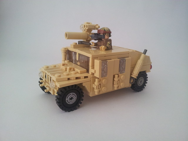 Humvee with TOW missile launcher