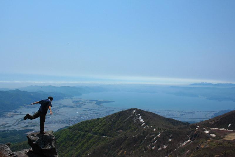 櫛ヶ峰から見た猪苗代湖