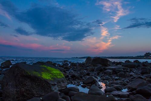 sunset beach landscape rye