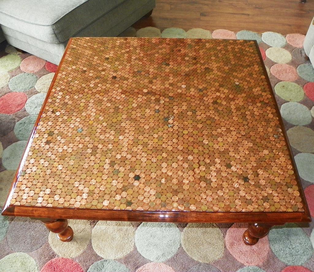 Penny Table With Epoxy Penny Table With Epoxy Flickr