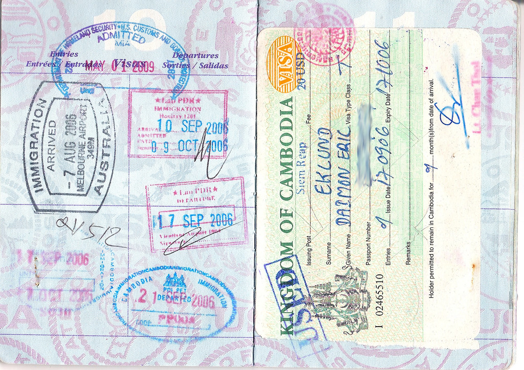 passport pages