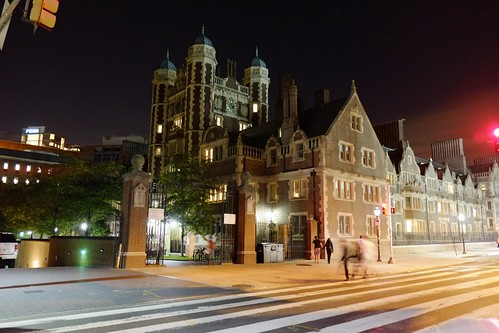 The Penn campus at night | by askpang