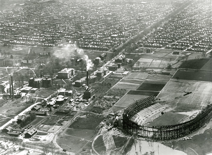 Ohio Stadium under construction