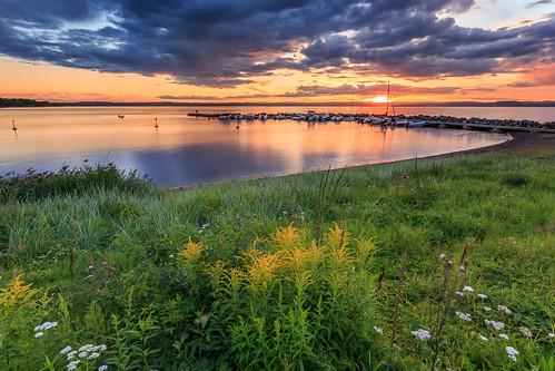 sunset flower water grass norway clouds marina boats moss rocks breakwaters ef1740mm fuglevik canon6d bentvelling