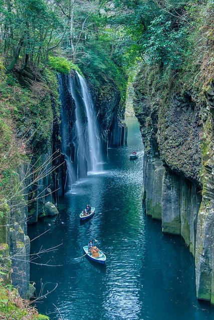 Takachiho Gorge 高千穂峡 五箇瀬川峡谷, Miyazaki, Kyūshū, Japan