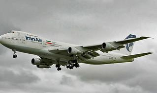 Iran Air 747-100 London Heathrow 2008 EP-IAM