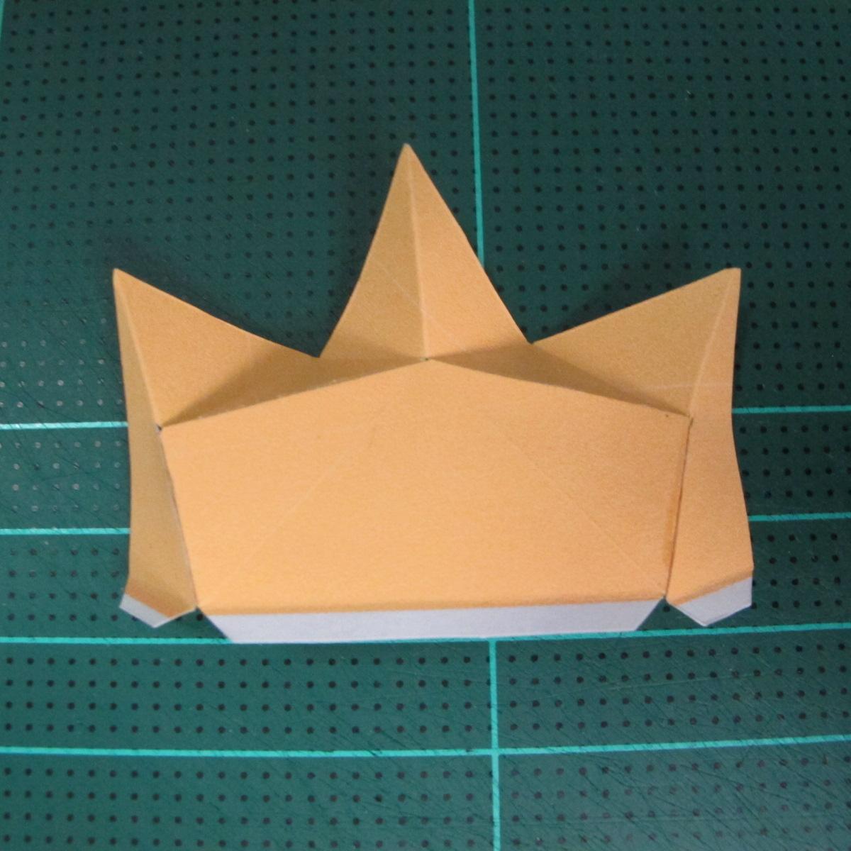 วิธีทำโมเดลกระดาษตุ้กตาสัตว์เลี้ยง หยดทองจากเกมส์ คุกกี้รัน (LINE Cookie Run Gold Drop Papercraft Model - クッキーラン  「黄金ドロップ」 ペーパークラフト) 008