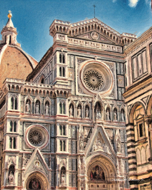 Digital Impasto Painting of the Basilica di Santa Maria del Fiore