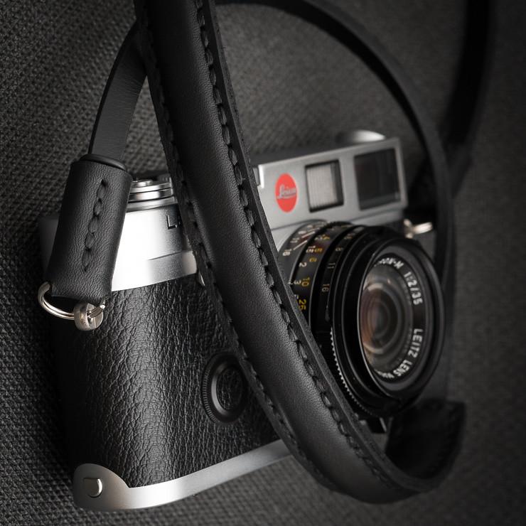 Deadcameras Mini strap & Leica M6   Leather wrist strap from