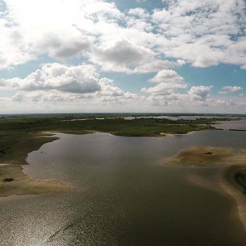 Altitude: 350ft. Looking west-southwest across Woodward Reservoir. | by Campin' Guy