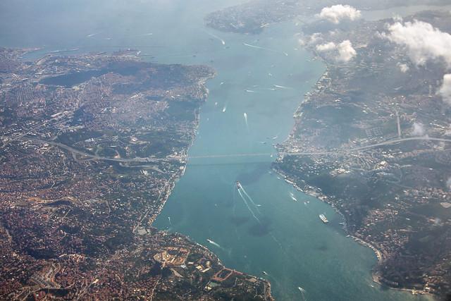 Aerial view of the Bosphorus Bridge in Istanbul 1