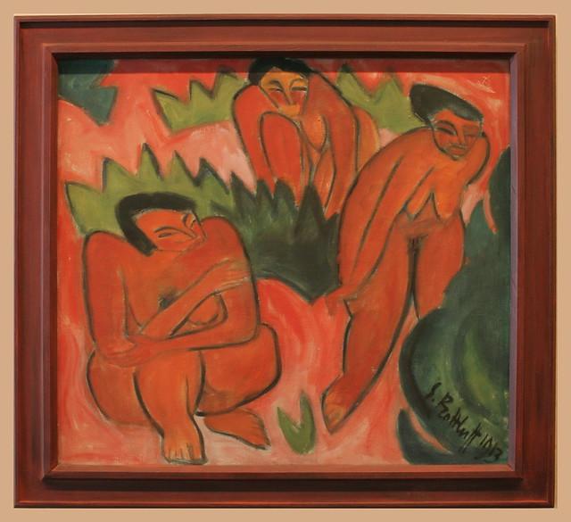 Karl Schmidt-Rottluff (1884-1976) Drei Akte (Dünenbild aus Nida), 1914,  Öl auf Leinwand