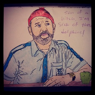 My first Bill Murray coloring book masterpiece.   Yep, now t ...