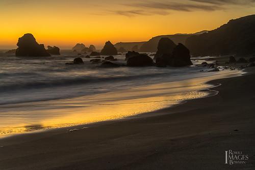 ocean california longexposure sunset sea seascape color beach water northerncalifornia landscape sand nikon waves glow pacific sonomacounty filters sheen seastacks d600 sonomacoast lightroom4 rmbimages robertmbowmanphotography