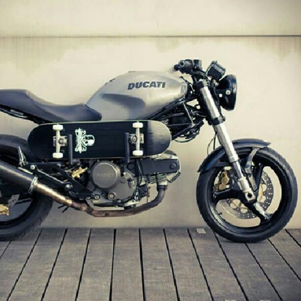 On Order Skate Influenced Custom Ducati Monster 600 By Rg Flickr