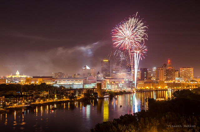 July 4th Fireworks - St. Paul, Minnesota