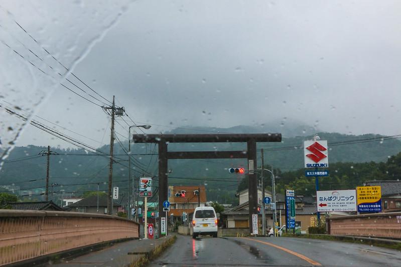 雨の大平神社