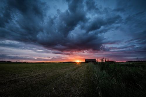 cloud field sunrise landscape se sweden outdoor nik sverige uppsalalän nikviveza2 lee6gndsoft nikond750 afsnikkor16354gvr