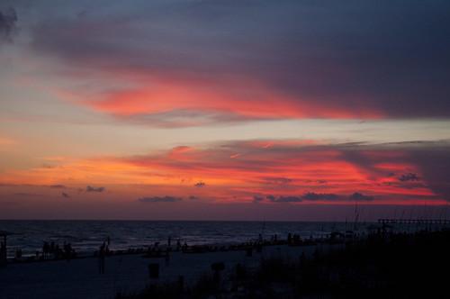 sunset sky usa beach gulfofmexico water nikon wasser unitedstates florida explore pcb panamacitybeach baycounty emeraldcoast d5000 fisherbray