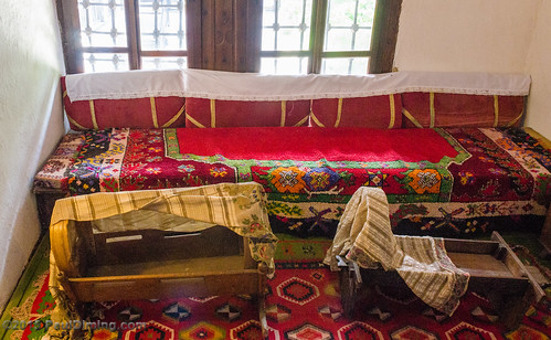 Bench & Cradles in the Guest House @ The Ethnological Museum - Pristina, Kosovo | by Paul Diming