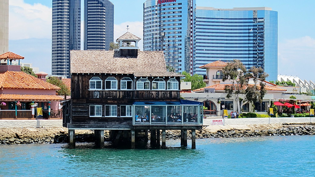 Seaport Village Restaurant From Dock San Diego We Visite