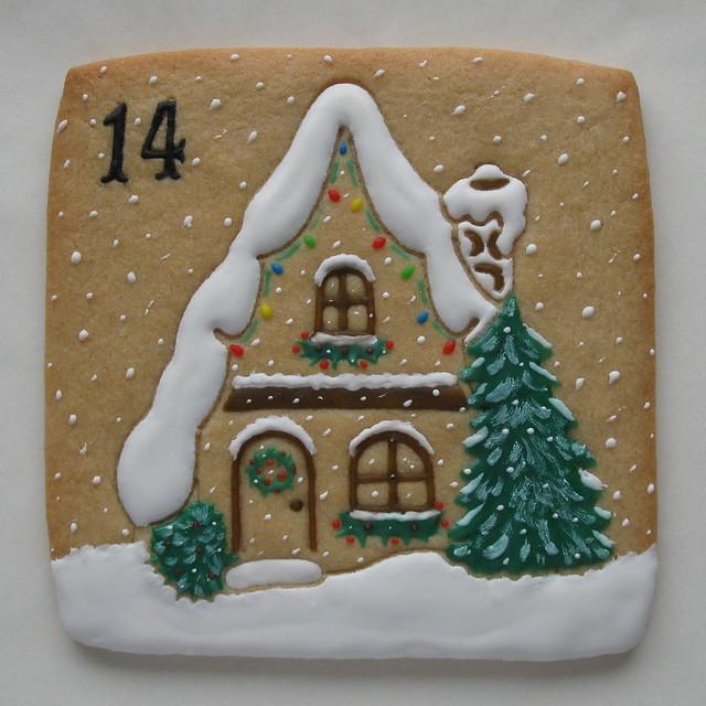 Christmas Countdown Advent Callendar on JuliaUsherCookieConnection.