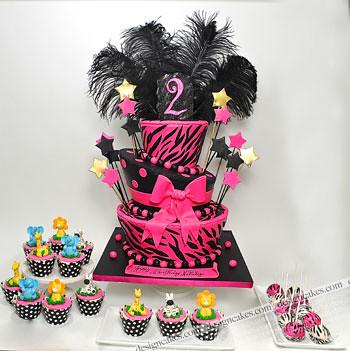 Swell Zebra Print Birthday Cake Jungle Cupcakes Zebra Cake Pop Flickr Funny Birthday Cards Online Sheoxdamsfinfo