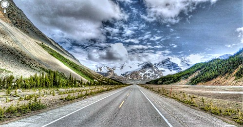 Google Street View - Pan-American Trek - Columbia Icefields straight ahead! | by kevin dooley