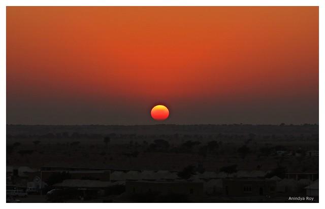 Sunset over Thar desert,Jaisalmer