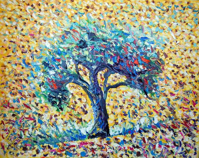 olive and... olio su tela 100x80 cm