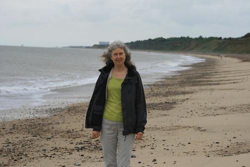 Marg on Dunwich beach