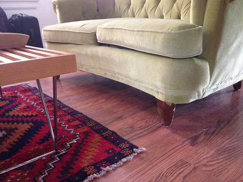 Sofa Skirt Removal | by emily @ go haus go