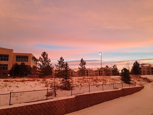 sunset snow day denver co lonetree