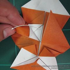 วิธีพับกระดาษเป็นรูปหมี (Origami Bear) 017