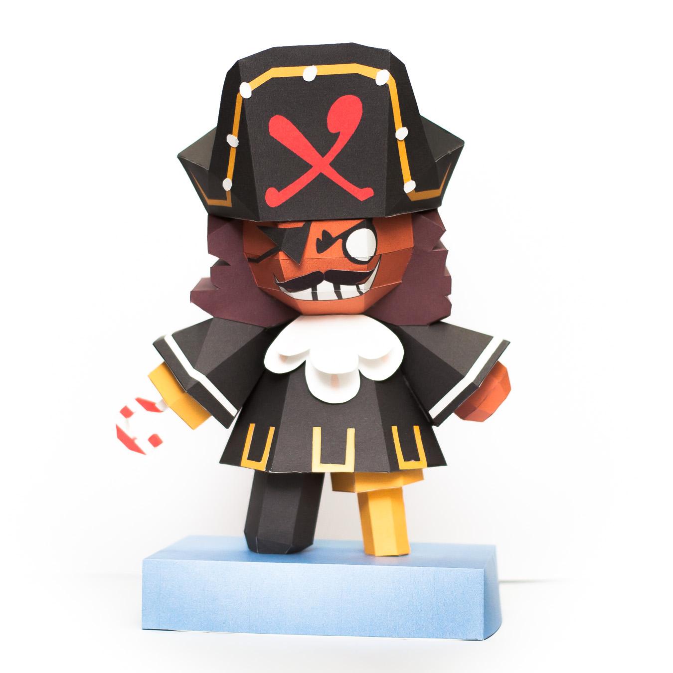 วิธีทำโมเดลกระดาษคุกกี้รัน คุกกี้รสโจรสลัด (Cookie Run Pirate Cookie Papercraft Model) 010