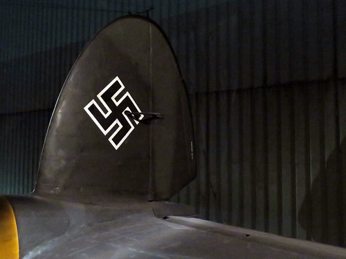 World War 2 Exhibit, a Plane with a Swastika on Its Tail in Rotterdam, Holland