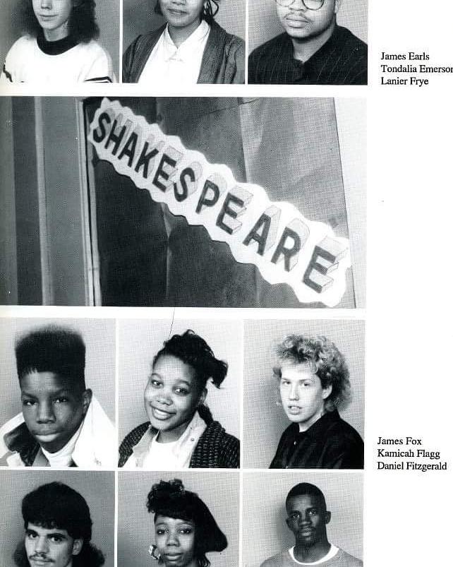 me in my yearbook 1990 1991 cincinnati ohio peter h clark academy high school