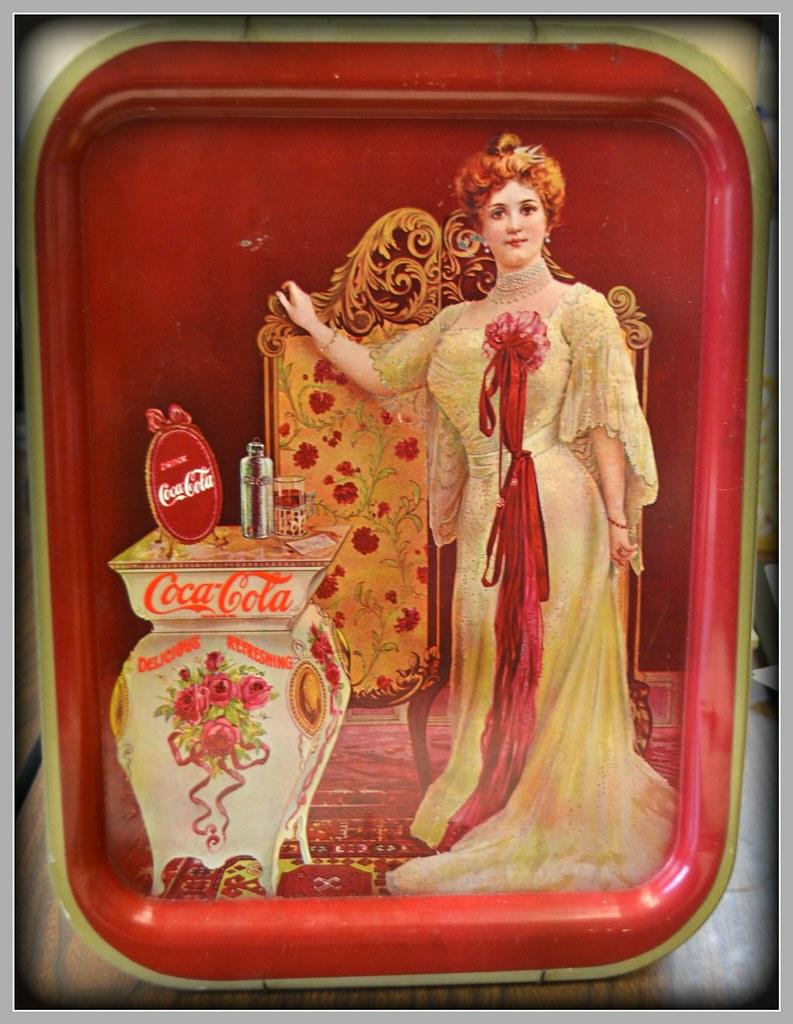 Vintage coca cola tray featuring opera singer Lillian Nord… | Flickr
