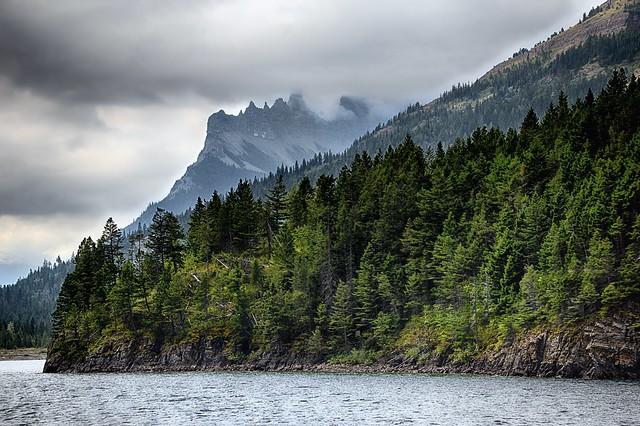 The Citadel Peaks behind a Hillside of Trees (HDR)