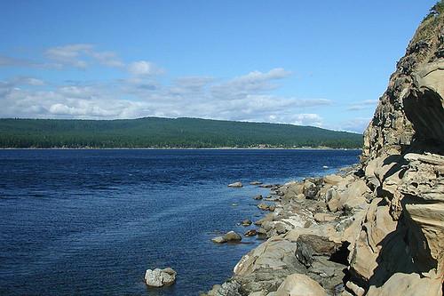 Sandstone Shoreline, Helliwell Park, Hornby Island, Gulf Islands, Georgia Strait, British Columbia, Canada