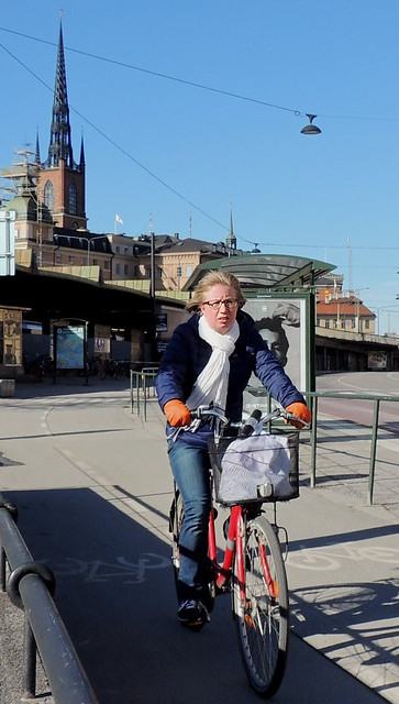 Stockholm bicyclist