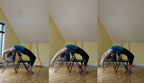 urdhva dhanurasana variation using 2 chairs  roberta dell