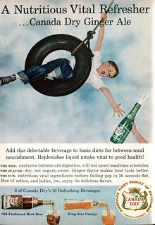 1958 Canada Dry Ginger Ale Advertisement Readers Digest October 1958