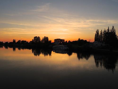 sunset night cloudy nacht geesthacht klar